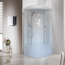 90x90 Душевая кабина Royal Bath RB 90BK1-T
