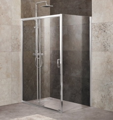 Душевой уголок Belbagno UNIQUE-AH-1-100/115-90-C-Cr 100x90 100x90 - фото для каталога
