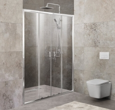 Дверь для душа Belbagno UNIQUE-BF-2-150/180-C-Cr 150  - фото для каталога